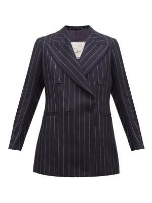 GIULIVA HERITAGE COLLECTION the stella pinstriped wool double breasted blazer