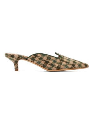 GIULIVA HERITAGE COLLECTION x le monde beryl checked kitten-heel mules