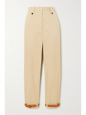 Giuliva Heritage + net sustain + space for giants the denys leather-trimmed cotton-blend pants