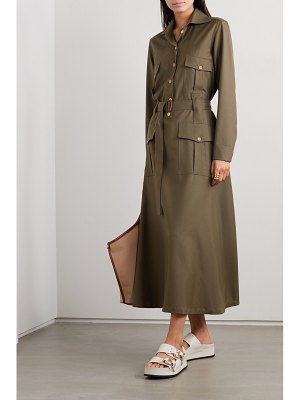 Giuliva Heritage net sustain space for giants the felicity belted shirt dress