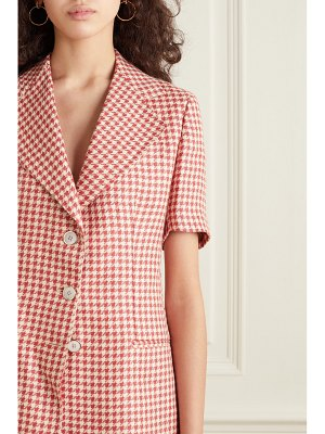 Giuliva Heritage the ginestra houndstooth linen blazer