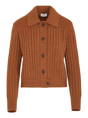 Giuliva Heritage the teresa cable-knit wool-cashmere cardigan