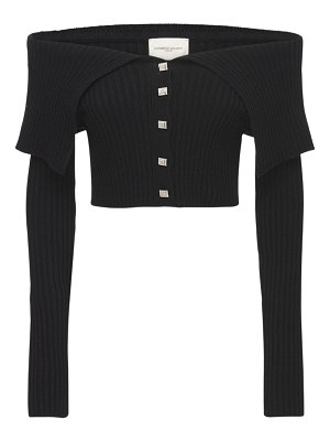 GIUSEPPE DI MORABITO Off-the-shoulder wool blend knit top