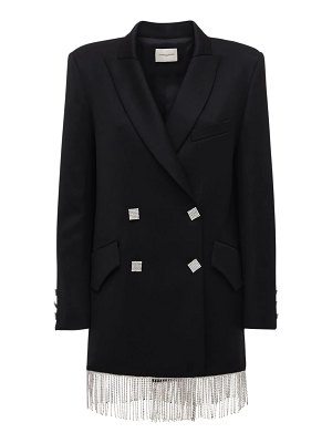 GIUSEPPE DI MORABITO Wool blend gabardine jacket dress