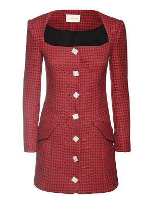 GIUSEPPE DI MORABITO Wool blend houndstooth jacket dress