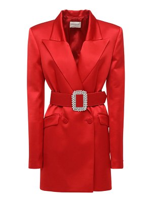 GIUSEPPE DI MORABITO Wool blend satin jacket dress