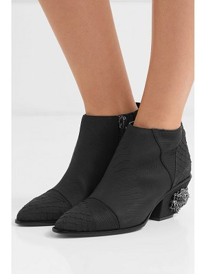 Giuseppe Zanotti guns embellished croc-effect leather ankle boots