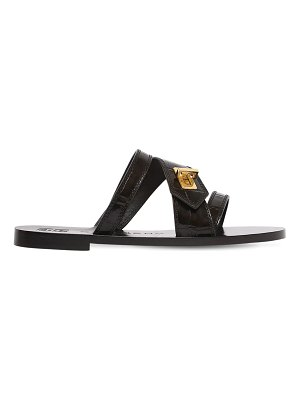 Givenchy 10mm eden croc embossed sandals
