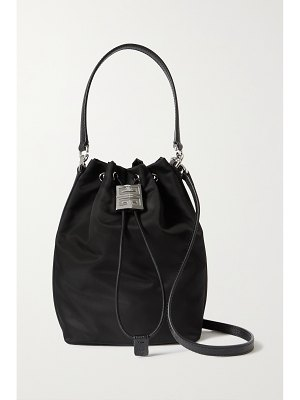 Givenchy 4g leather-trimmed shell bucket bag