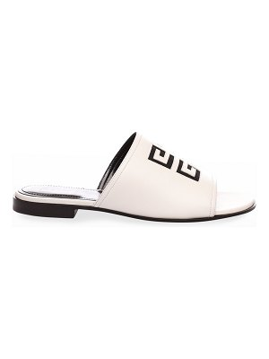 Givenchy 4G Logo Calf Leather Flat Mules