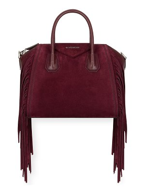 Givenchy Antigona Small Fringed Suede Satchel Bag