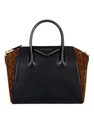 Givenchy Antigona Small Leopard Satchel Bag