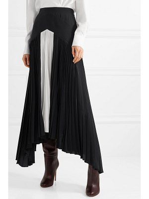 Givenchy asymmetric pleated two-tone silk crepe de chine maxi skirt