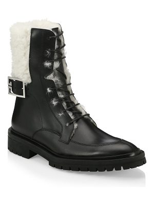 Givenchy aviator leather shearling-lined ankle boots