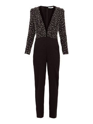 Givenchy beaded bodice wool and silk jumpsuit