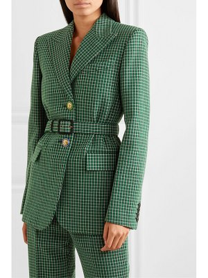 Givenchy belted checked wool blazer