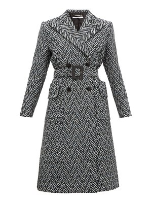 Givenchy belted double breasted herringbone wool coat
