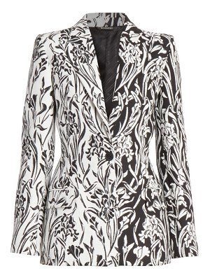 Givenchy bi-color jacquard fitted jacket