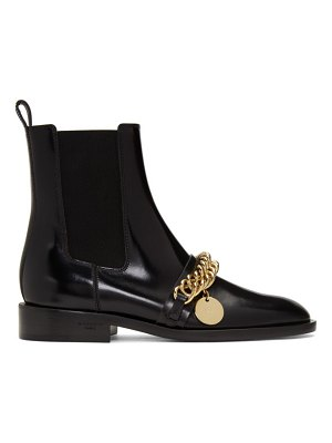Givenchy black chain ankle boots