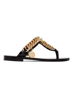 Givenchy black chain thong sandals