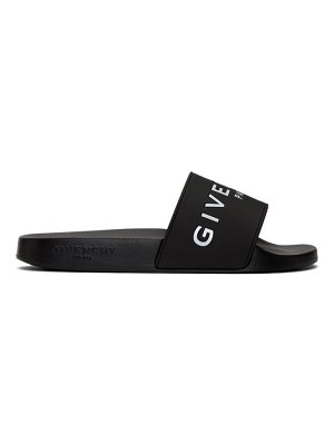Givenchy black logo pool slides