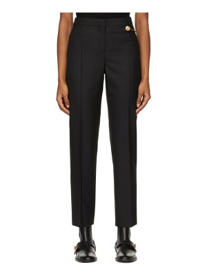 Givenchy black wool cigarette 4g chain trousers
