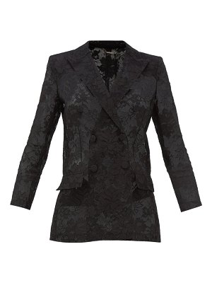 Givenchy bonded floral-lace blazer