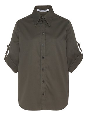 Givenchy buckle-detailed cotton-poplin button-up shirt