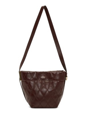 Givenchy burgundy quilted mini gv bucket bag