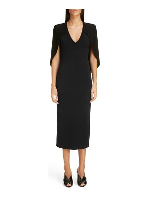 Givenchy cape back knit midi dress