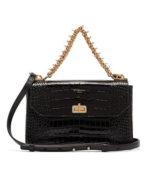 Givenchy catena crocodile-effect leather shoulder bag