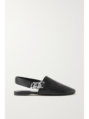 Givenchy chain-embellished leather slingback flats