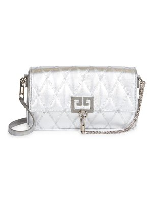 Givenchy charm quilted metallic leather shoulder bag