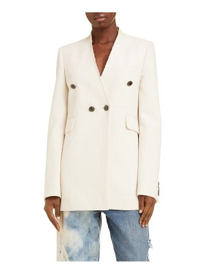 Givenchy collarless double breasted jacket