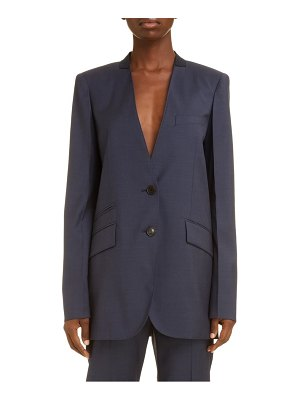 Givenchy collarless wool jacket