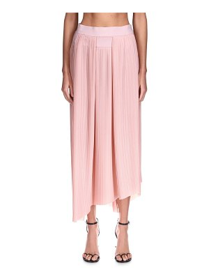 Givenchy crepe de chine asymmetrical pleated skirt