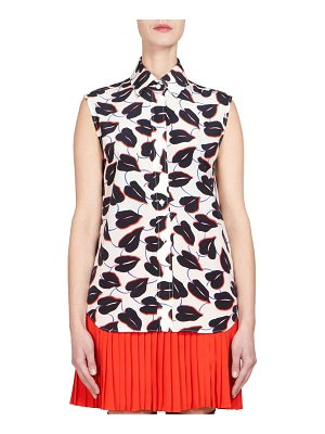 Givenchy crepe de chine sleeveless top
