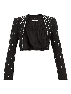 Givenchy cropped crystal embellished wool jacket