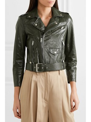 Givenchy cropped textured-leather biker jacket
