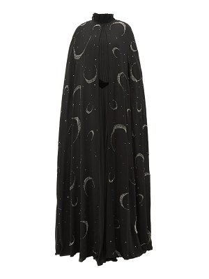 Givenchy crystal beaded moon silk chiffon cape