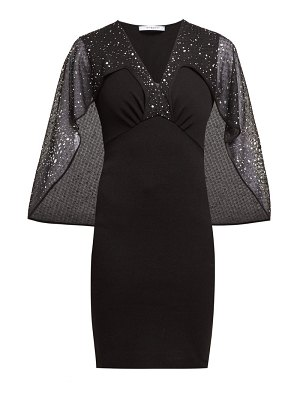Givenchy crystal embellished cape mini dress