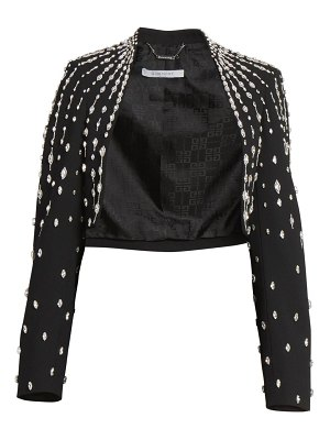 Givenchy crystal embellished cropped bolero jacket