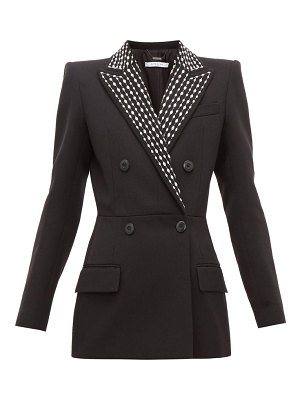 Givenchy crystal-embellished wool-blend drill suit jacket