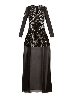 Givenchy crystal embellished wool crepe gown