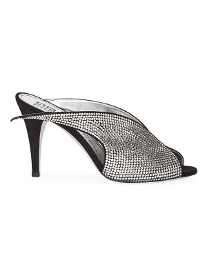 Givenchy crystal wing leather mules