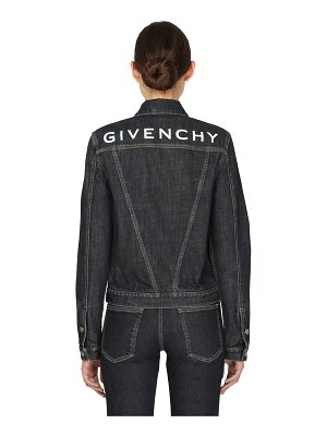 Givenchy Deep indigo denim jacket w/ back logo