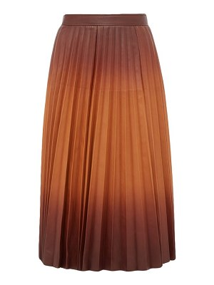 Givenchy degradé pleated leather midi skirt