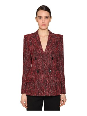 Givenchy Double breast tech tweed blazer
