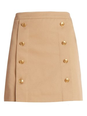 Givenchy double breasted button mini skirt