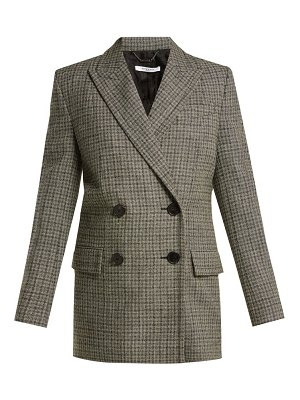Givenchy double breasted checked wool blazer